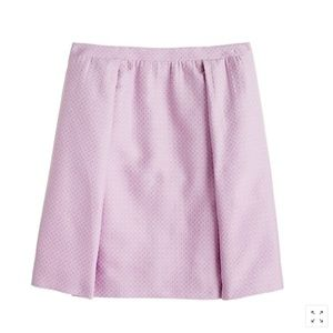 J.Crew Collection Box-pleated Lavender Skirt